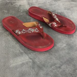 Coach Women's Red Judy Flip Flop Sandals Size 8M
